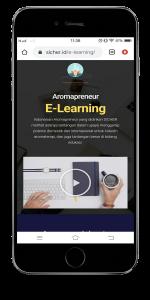 e-learning mockup